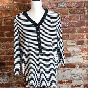 Ralph Lauren LRL Black label striped Top 2XL